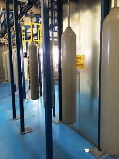 automated powder coating system at BOC Wolverhampton